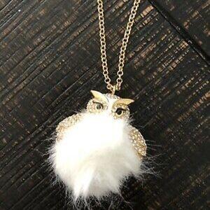 Kate Spade  Pave Owl Pendant Long Necklace